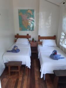 room 3 -- sleeps 2 - two single beds, solar hot water bath