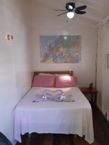 room 8 -- sleeps 2 - one double bed, shared solar hot water bath